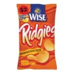 Wise -  Potato Chips Ridgies Cheddar & Sour Cream 0041262284340