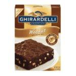 Ghirardelli -  Chocolate Brownie Mix Walnut 12 Boxes 0041449302560