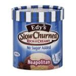 Edy's -  Edy's Ice Cream Slow Churned Rich & Creamy No Sugar Added Neapolitan Light 0041548007755