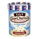 Edy's -  Light No Sugar Added Chocolate Chip 1.75,1.65 l 0041548014753