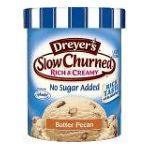 Edy's -  Ice Cream Slow Churned Rich & Creamy No Sugar Added Butter Pecan 0041548034751