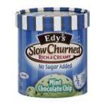 Edy's -  Ice Cream Slow Churned Rich & Creamy No Sugar Added Mint Chocolate Chip 0041548061757