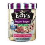 Edy's -  Edy's Slow Churned Rich & Creamy Yogurt Blends Black Cherry Flavored Vanilla Swirl Dairy Dessert 0041548106663