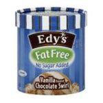 Edy's -  Ice Cream Fat Free No Sugar Added Vanilla 1.5 qt,1.41 lt 0041548127880