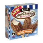 Edy's -  Edy's Light Slow Churned Rich & Creamy Vanilla Almond Ice Cream Bars 0041548149998