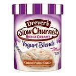 Edy's -  Dairy Dessert Slow Churned Rich & Creamy Yogurt Blends Caramel Praline Crunch 0041548250663