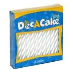 Dec a cake -  White Spiral Candles Pack 6 24 candles 0041569100459