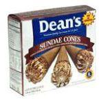 Dean's Foods -  Ice Cream Sundae Cones 6 ea 0041900025366
