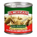 El Mexicano -  Whole Jalapeno Peppers Water Vinegar Carrots Onions Iodized Salt Vegetable Oil Sugar & Spices 0042743230221