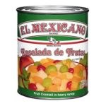 El Mexicano -  Diced Peaches Diced Pears Water Grapes Corn Syrup Pineapple Chunks Sugar And Halved Cherries Artificially Colored Red 0042743230504