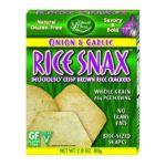 Edward & Sons -  Rice Snax Onion Garlic Boxes 0043182100212