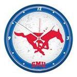 Wincraft -  Wincraft Southern Methodist Mustangs Round Clock 0043662185449