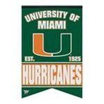 Wincraft -  Wincraft Miami Fl Hurricanes 17x26 Premium Quality Banner 0043662190870