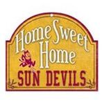 Wincraft -  Wincraft Arizona State Sun Devils 11x9 Home Sweet Home Wood Sign 0043662194571