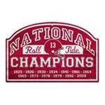 Wincraft -  Wincraft Alabama Crimson Tide National Titles 11x17 Wood Sign 0043662197268