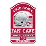 Wincraft -  Wincraft Ohio State Buckeyes 17x26 Fan Cave Wood Sign 0043662197701