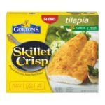 Gorton's Seafood -  Skillet Crisp Tilapia Lightly Coated Garlic & Herb Seasonings Fish Fillets 0044400153300