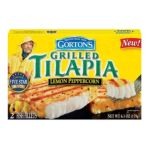 Gorton's Seafood -  Grilled Tilapia Lemon Peppercorn Fish Fillets 0044400185509