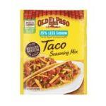 Old El Paso - Taco Seasoning Low Salt 0046000288772  / UPC 046000288772