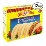 Old El Paso - White Corn Taco Shells 0046000811215  / UPC 046000811215
