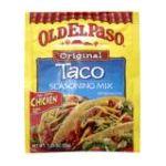 Old El Paso - Taco Seasoning Mix 0046000814018  / UPC 046000814018