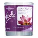 Glade - Relaxing Moments Scented Candle Water Blossom 0046500709685  / UPC 046500709685
