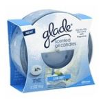 Glade - Scented Oil Candle Decorative Glass Holder Clean Linen 0046500715822  / UPC 046500715822