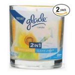 Glade -  2 In1 Candle Clean Linen Sunny Days 0046500724183