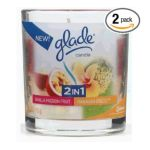 Glade - 2 In1 Candle Hawaiian Breeze And Vanilla Passion Fruit 0046500724190  / UPC 046500724190