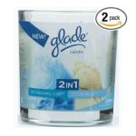 Glade - 2 In1 Candle Ocean Blue Refreshing Surf 0046500724206  / UPC 046500724206