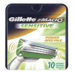 Gillette -  Mach3 Sensitive Power Razor Cartridges 0047400002005