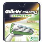 Gillette -  Mach3 Sensitive Power Razor Cartridges 0047400002043