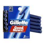Gillette -  Goodnews! Regular Disposable Razors 5 razors 0047400110366