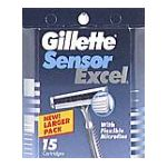 Gillette - Cartridges 15 cartridges 0047400115538  / UPC 047400115538