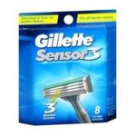 Gillette - Cartridges 3 cartridges blades 0047400120969  / UPC 047400120969