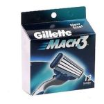 Gillette - Cartridges 12 cartridges 0047400185609  / UPC 047400185609