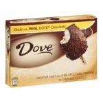 Dove -  Caramel Swirl Cashew Ice Cream Bars With Milk Chocolate 0047677391253