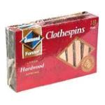 Diamond -  Large Hardwood Spring Clothespins 18 pins 0048789156242