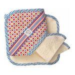 Deerfield Farms -  Hooded Towel With 2 Washcloths Set In Geo 0049022440043