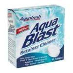 Aquafresh - Retainer Cleaner 16 tablet 0053100004775  / UPC 053100004775