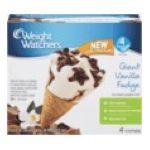 Weight Watchers -  Giant Ice Cream Sundae Cones Vanilla Fudge 0070640500505