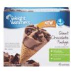 Weight Watchers -  Giant Ice Cream Sundae Cones Chocolate Fudge 4 ea 0070640500512