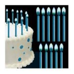 Wilton -  Blue Color Flame Candles Birthday Party Cake Fun 12 candles 0070896281173