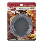 Wilton -  Mini Cake Pans 3/Pkg-4X1.25 Round 0070896518293