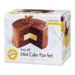Wilton -  Tasty-Fill Mini Cake Pan Set-Round 4X1.25 0070896525550