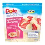 Dole - Ready-cut Fruit Strawberries & Bananas 0071202171218  / UPC 071202171218