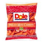 Dole - Mini Peeled Carrots 16 0071430000250  / UPC 071430000250