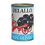 Delallo -  Ripe Olives 0072368104508