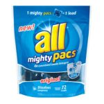 All - Mighty Pacs 4x Concentrated Original Laundry Detergent 0072613458530  / UPC 072613458530