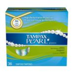 Tampax - Pearl With Plastic Super Absorbency Applicator Unscented 36 ea 0073010003705  / UPC 073010003705